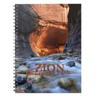 Zion Nationalpark-Notizbuch, Zion Engen Notizblock