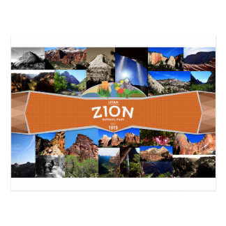 Zion Nationalpark-Postkarte Postkarte