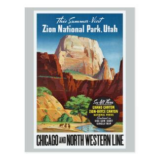 Zion Nationalpark, Reise Utahs Amerika Postkarte