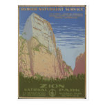 Zion Nationalpark Springdale 1938 Utah Postkarte