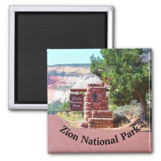 Zion Nationalpark USA Quadratischer Magnet