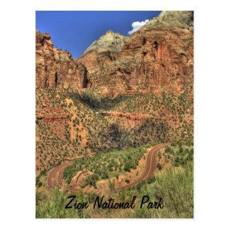 Zion Nationalpark, UT Postkarte