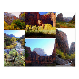 Zion Nationalpark, Utah, Collagen-Postkarte Postkarte