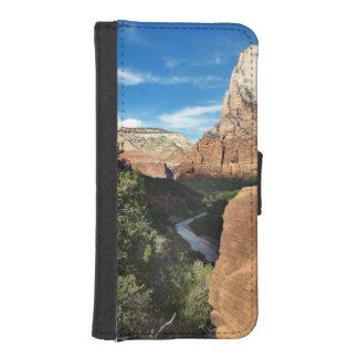Zion Nationalpark-Utah-Jungfrau-Fluss iPhone SE/5/5s Geldbeutel