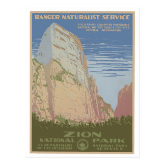 Zion Nationalpark-Vintage Plakat-Postkarte Postkarte