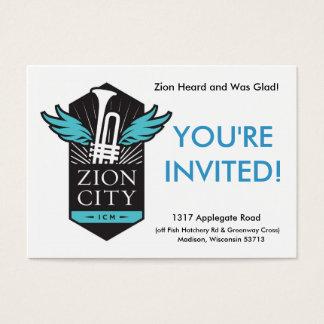 Zion Stadt-Willkommens-Karten Visitenkarte