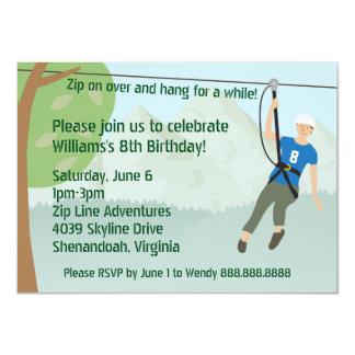 Ziplinie Futter-Geburtstags-Party 11,4 X 15,9 Cm Einladungskarte