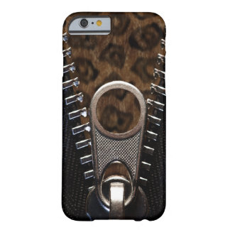 Zippered Leopard-Pelz Barely There iPhone 6 Hülle