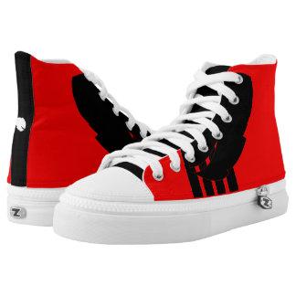 Zipz hohe Spitzenschuhe, Frauen 6 US-Mann-4/US Hoch-geschnittene Sneaker