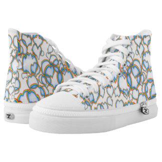 Zipz Turnschuhe Ludi Barrs Vorlagen-Entwürfe Hoch-geschnittene Sneaker