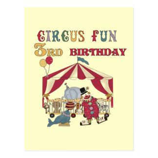 Zirkus-3. Geburtstags-T-Shirts und Geschenke Postkarte