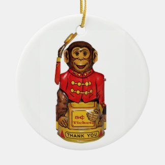 Zirkus-Affe Keramik Ornament