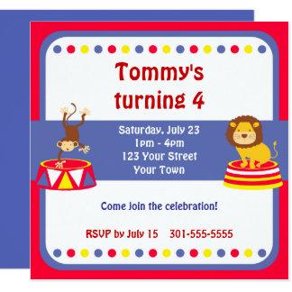 Zirkus-Clown-Geburtstags-Party Karte