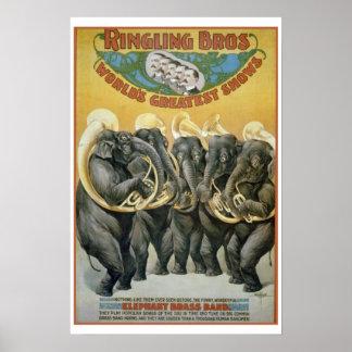 Zirkus-Elefant-Blaskapelle Poster