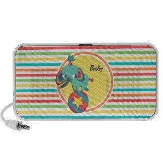 Zirkus-Elefant Helle Regenbogen-Streifen PC Lautsprecher