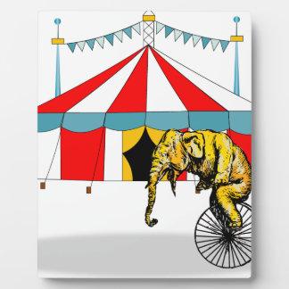 Zirkus-Erinnerungsstücke zum Gedenken an Fotoplatte