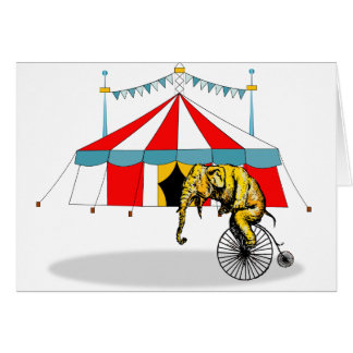 Zirkus-Erinnerungsstücke zum Gedenken an Karte