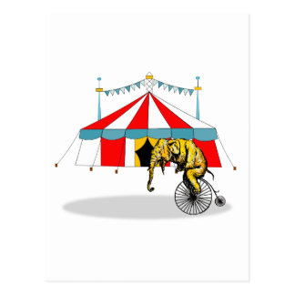 Zirkus-Erinnerungsstücke zum Gedenken an Postkarte