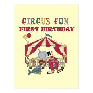 Zirkus-erste Geburtstags-T-Shirts und Geschenke Postkarte
