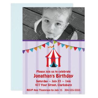 Zirkus-Geburtstags-Party-Foto-Schablone 12,7 X 17,8 Cm Einladungskarte