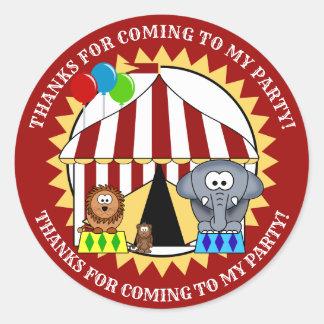 Zirkus-Karneval danken Ihnen Aufkleber