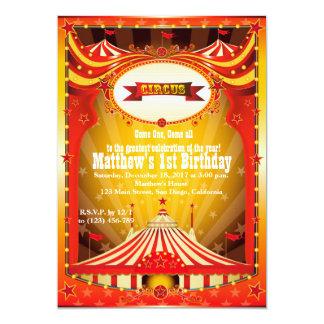 Zirkus-Karnevals-Einladungen KindBirthdy Party-| 12,7 X 17,8 Cm Einladungskarte