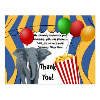 Zirkus-Karnevals-Geburtstag/danken Ihnen Postkarte
