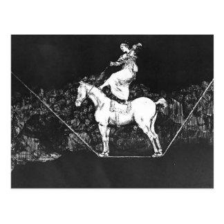 Zirkus-Königin Francisco Goya- A fristgerechte Postkarte