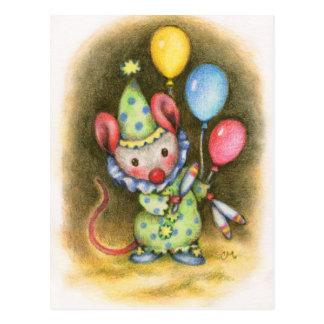 Zirkus-Mäuseniedliche Postkarte