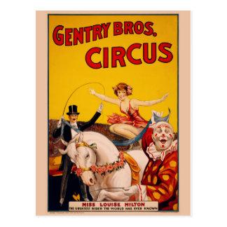 Zirkus-Plakat-Postkarte