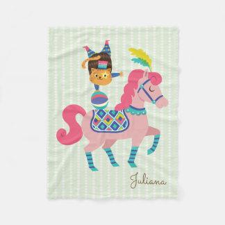 Zirkus-Reihe - das Pferd und die Katze Fleecedecke