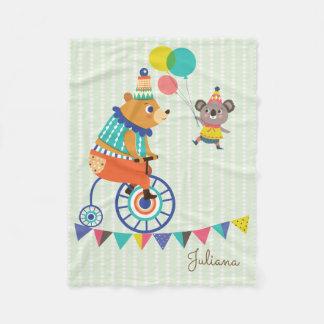 Zirkus-Reihe - der Bär und der Koala Fleecedecke
