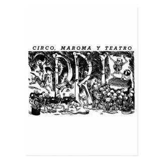 """Zirkus, Seil und Theater"" C. Mexiko 1951 Postkarte"