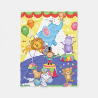 Zirkus-Spaß-Flanell-Decke Fleecedecke