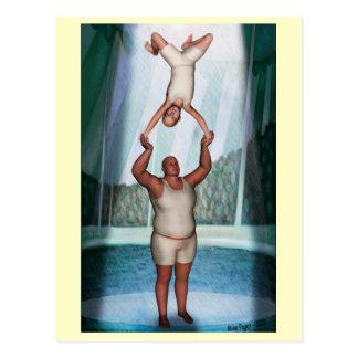 Zirkus-starker Mann Postkarte