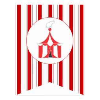 Zirkus-Zelt-Party-Flaggen-Flaggen-Fahnen-Postkarte Postkarte