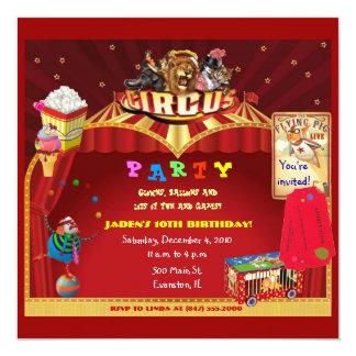 Zirkusgeburtstags-Party Einladung