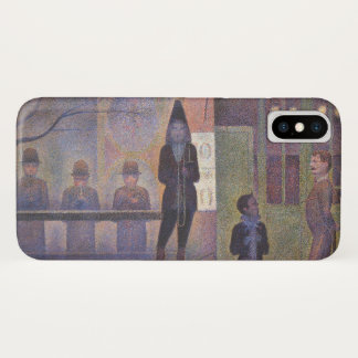 ZirkusSideshow durch Georges Seurat, Vintage Kunst iPhone X Hülle