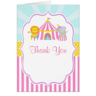 Zirkuszelt-Zirkus-Karnevals-Geburtstag danken Karte