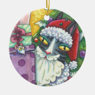 Zischen N Fitz SANKT CAT-WEIHNACHTSverzierung Keramik Ornament