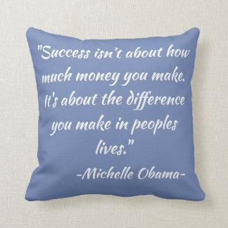Zitat-dekoratives Kissen Michelle Obama