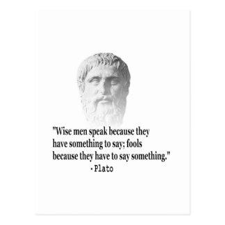 Zitat durch Plato Postkarte