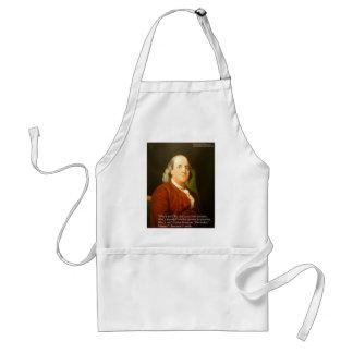 Zitat-Geschenke u. Karten Bens Franklin (was klug Schürze