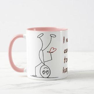 Zitat: Kaffee I, zum glücklich zu sein Tasse