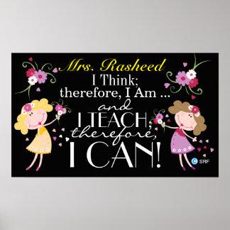 Zitat-Lehrer-Plakat Poster