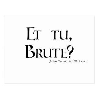 Zitat-Produkte Shakespeare Caesar - und tu, Postkarte