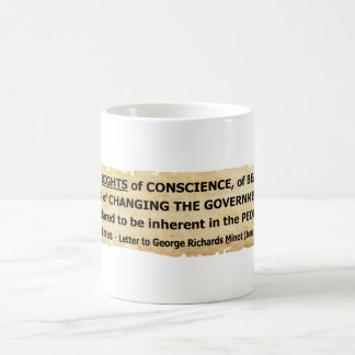 Zitat-Rechte Fisher Ames der Leute Kaffeetasse