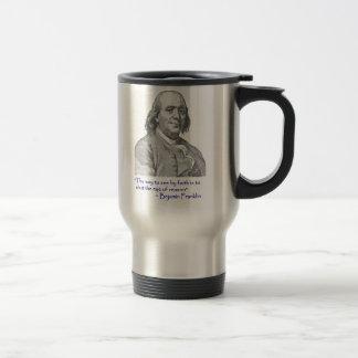Zitat-Reise-Kaffee-Tasse Bens Franklin! Edelstahl Thermotasse