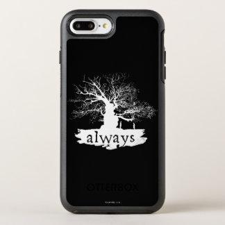 Zitat-Silhouette Harry- Potterbann-| immer OtterBox Symmetry iPhone 8 Plus/7 Plus Hülle