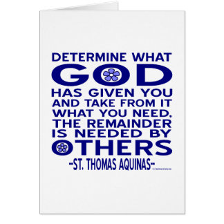 Zitat St Thomas Thomas von Aquin Karte